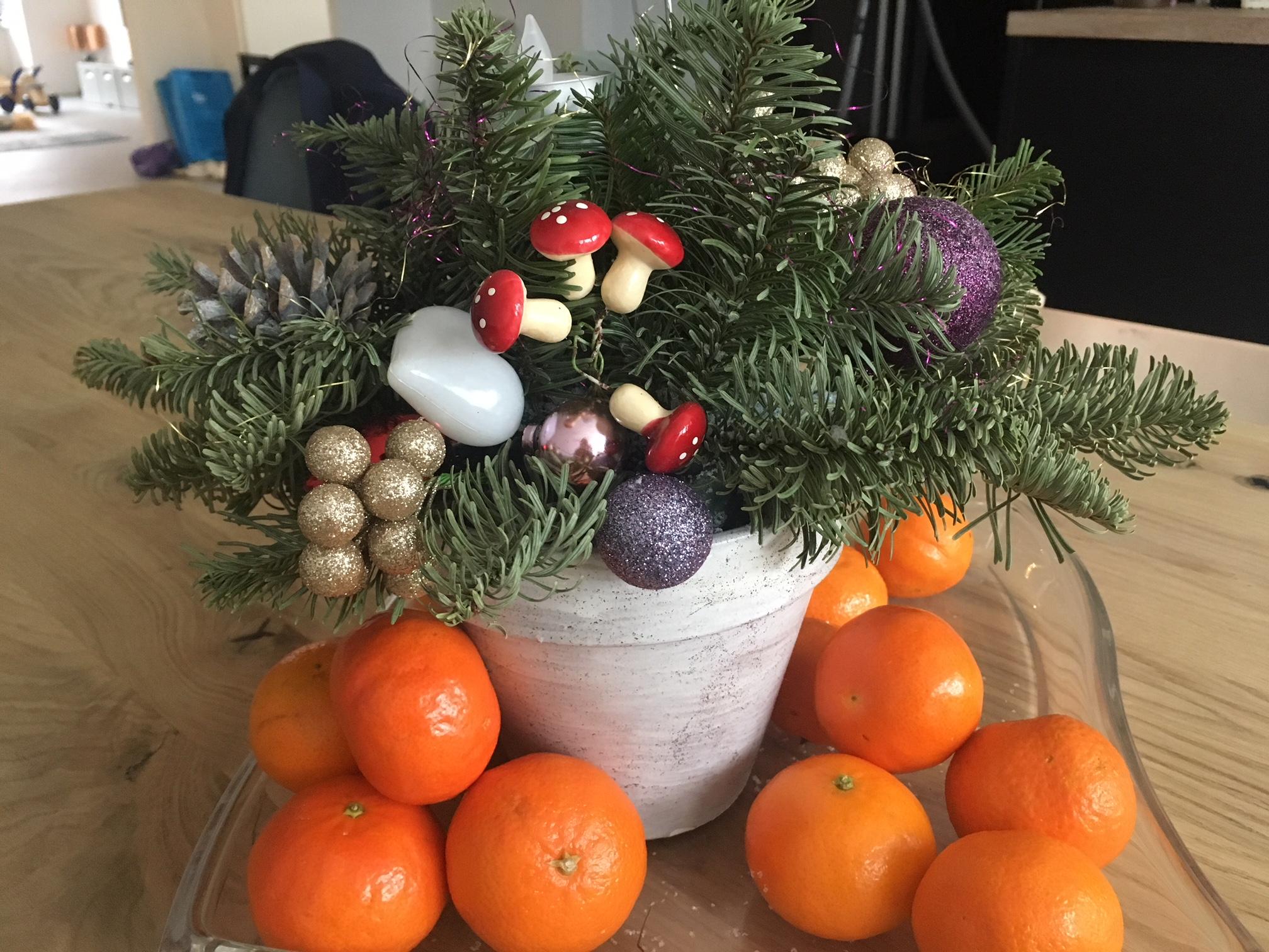 Kerststuk maken Brood & Spelen